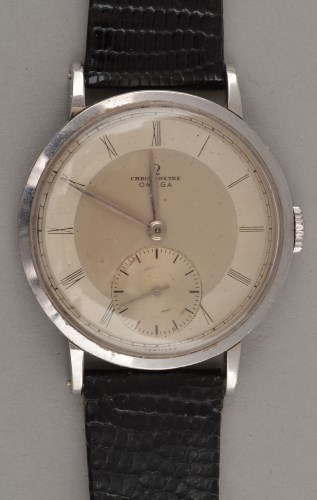 Lot 821-Omega: a mid 20th Century gentleman's stainless...