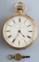 Lot 833-Thomas Russell & Son: a late Victorian 18ct....