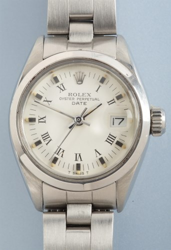Lot 843-Rolex Oyster Perpetual Date: a lady's...