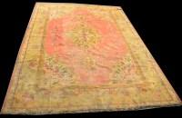 Lot 1016-A Ushak carpet, the central medallion surrounded...