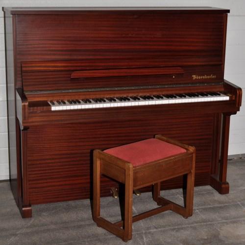 Lot 1194 - Bösendorfer, Vienna: a matt mahogany cased...
