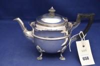 Lot 658 - An Edward VII silver teapot, by Reid & Sons,...