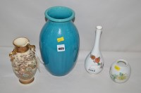 Lot 1005 - A 20th Century Chinese Famille Rose squat vase;...