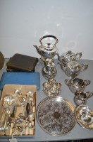 Lot 1064 - A quantity of silver-plated metalware, to...