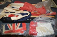 Lot 1078 - 20th Century linen flags, to include: Vice...