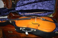 Lot 1100 - A cello and bow, by Andreas Zeller, Romania...