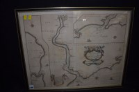 Lot 1189 - A 17th Century engraved map with hand...