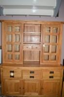 Lot 1194 - A modern oak dresser, with glazed panel doors...