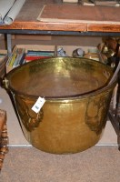Lot 1269 - A large 19th Century brass preserve pan, 63cms...