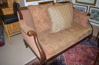 Lot 1282 - A French mahogany sitting room suite,...