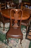 Lot 1315 - A set of five oak Queen Anne style single...