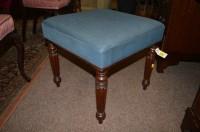 Lot 1338 - A Victorian mahogany stool, raised on turned...