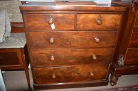 Lot 1407 - A Victorian mahogany chest of two short and...