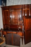 Lot 1410 - An Edwardian inlaid mahogany wardrobe,...