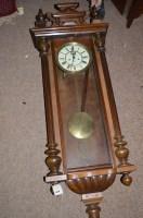 Lot 1419 - A 19th Century walnut Vienna wall clock, by...