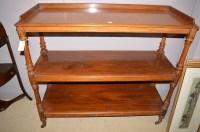 Lot 1462 - A Victorian mahogany three-tier side table,...