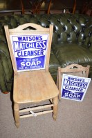 Lot 669-A stripped wood occasional chair, the back...