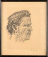 Lot 47 - Jakob Nussbaum (German 1873-1936) HEAD OF A...
