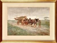 Lot 74 - John Falconar Slater (1857-1937) A TIMBER CART...