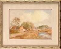 Lot 75 - John Falconar Slater (1857-1937) A COTTAGE BY...
