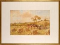 Lot 81 - John Atkinson (1863-1924) ''AT HAYTIME'' -...