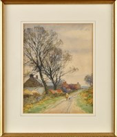 Lot 83 - John Atkinson (1863-1924) ''A MAN AND DOG...