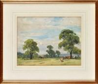 Lot 84 - John Atkinson (1863-1924) ''CATTLE GRAZING IN...