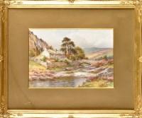 Lot 88 - Harry James Sticks (1867-1938) COTTAGES BY A...