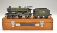 Lot 487-A Bassett-Lowke 0-gauge locomotive and tender,...