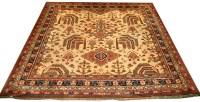 Lot 879-An early 20th Century Ushak style carpet,...