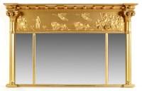 Lot 925-A Regency style gilt gesso breakfront overmantel...