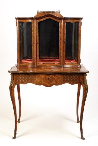 Lot 943-A late 19th Century French kingwood and marquetry ...