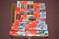 Lot 303 - Airfix model construction kits: red box 1:72,...