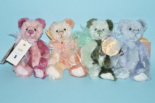 Lot 5-Charlie Bears: Isabelle Collection, Poppy, Pansy, ...