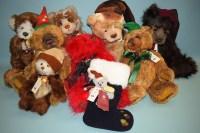 Lot 56-Charlie Bears: Rudolph; Bob; Hogmanay; Dudley;...