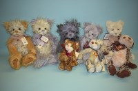 Lot 58-Charlie Bears: Vanessa; Verity; Kekezza; Whifp;...