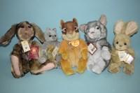 Lot 61 - Charlie Bears: Picnic; Bianca; Chase; Dray;...