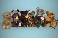Lot 64 - Charlie Bears: Aidan; Olly; Phillip; Kit; Ludo;...