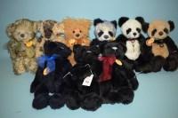 Lot 70 - Charlie Bears: Squidge; Tasha; Debbie; Jack...