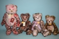 Lot 81 - Charlie Bears: Sasha; Ashley; Milly; and...