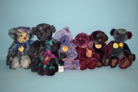 Lot 82 - Charlie Bears: Candy; Victoria; Demi; Pansy;...