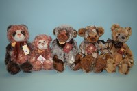 Lot 88 - Charlie Bears: Dixie; Edith; Autumn; Bashful;...