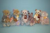 Lot 91 - Charlie Bears: Dilly; Dally; Amanda; Liddy;...
