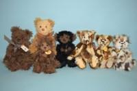 Lot 93 - Charlie Bears: Kelvin; Louise; Scruffy Lump;...