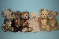 Lot 99 - Charlie Bears: Pandy; Courtney; Clara; Naomi;...